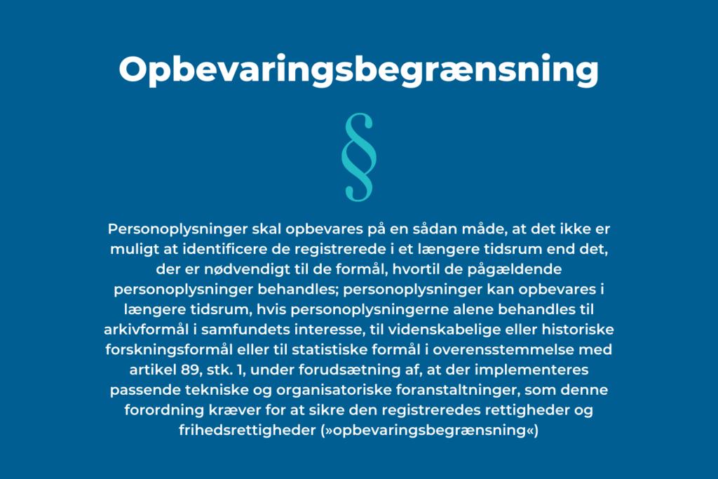 Opbevaringsbegrænsning gdpr.dk